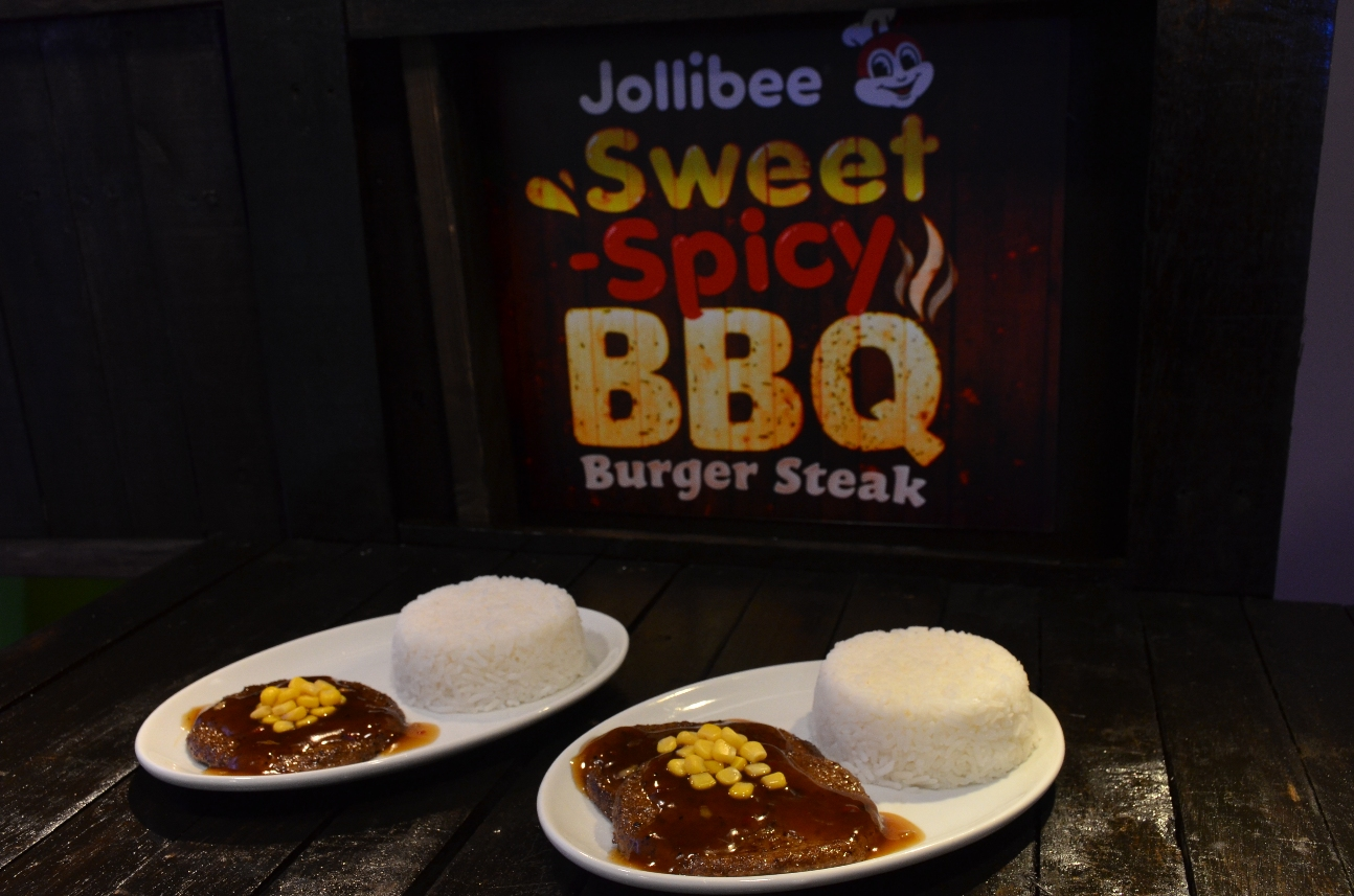 jollibee sweet spicy bbq burger steak