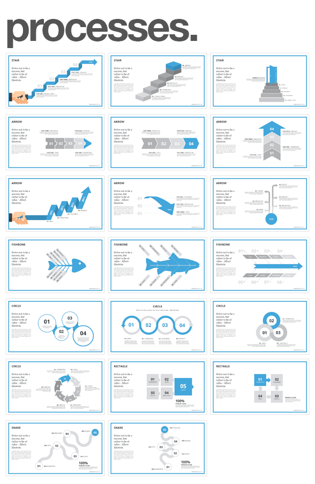 process and flow Monday PowerPoint Template (PowerPoint Templates)