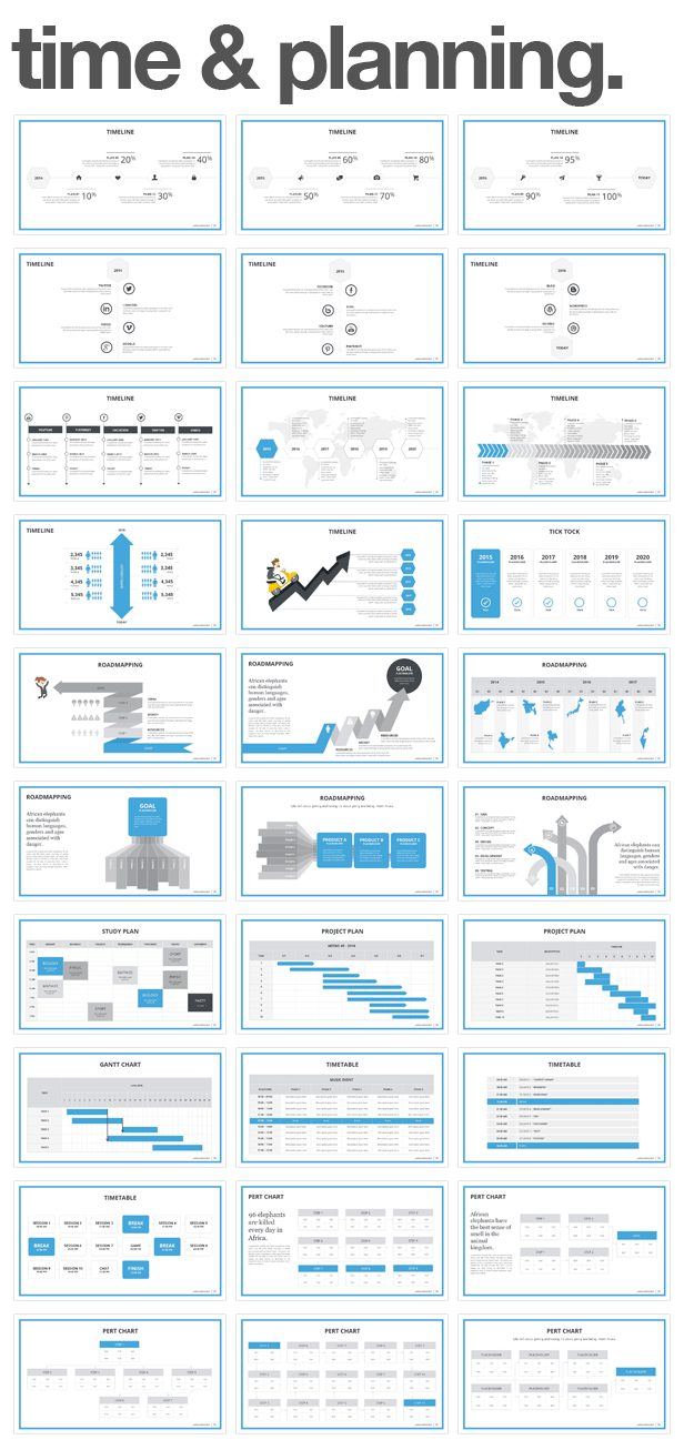 time and planning Monday PowerPoint Template (PowerPoint Templates)
