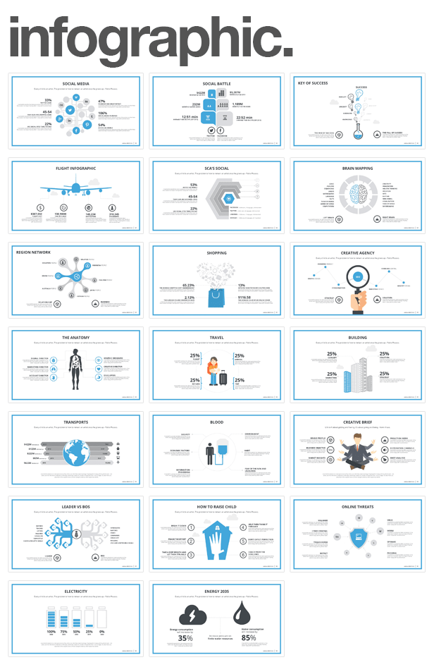 infographic Monday PowerPoint Template (PowerPoint Templates)