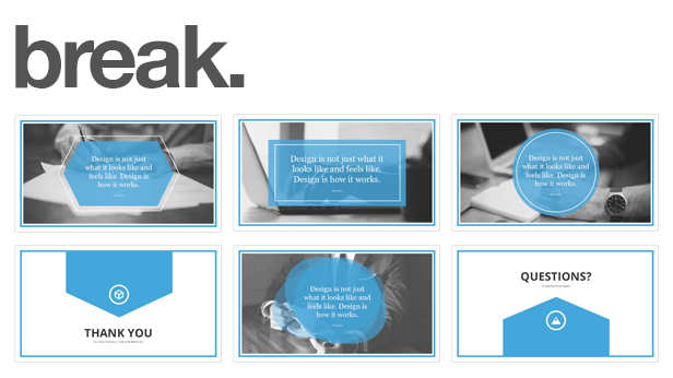 break slides Monday PowerPoint Template (PowerPoint Templates)