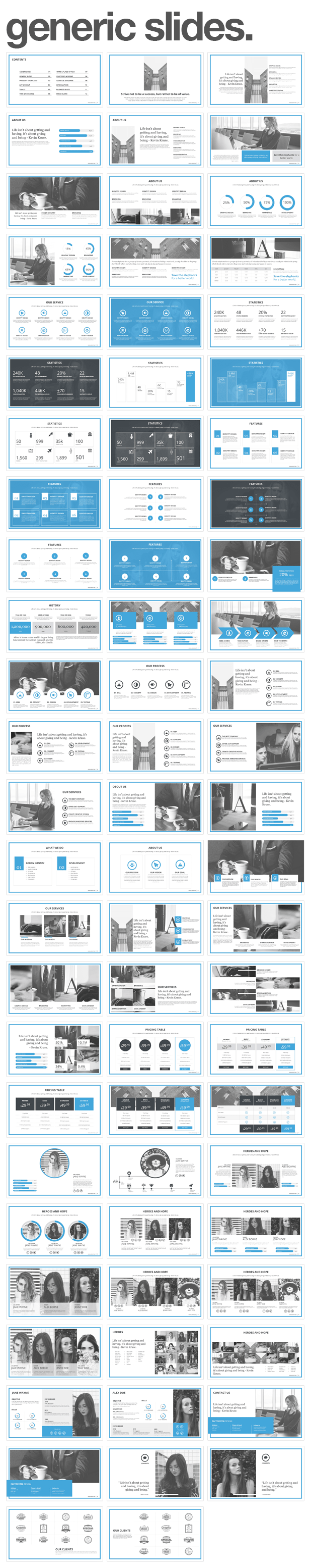 generic slides Monday PowerPoint Template (PowerPoint Templates)