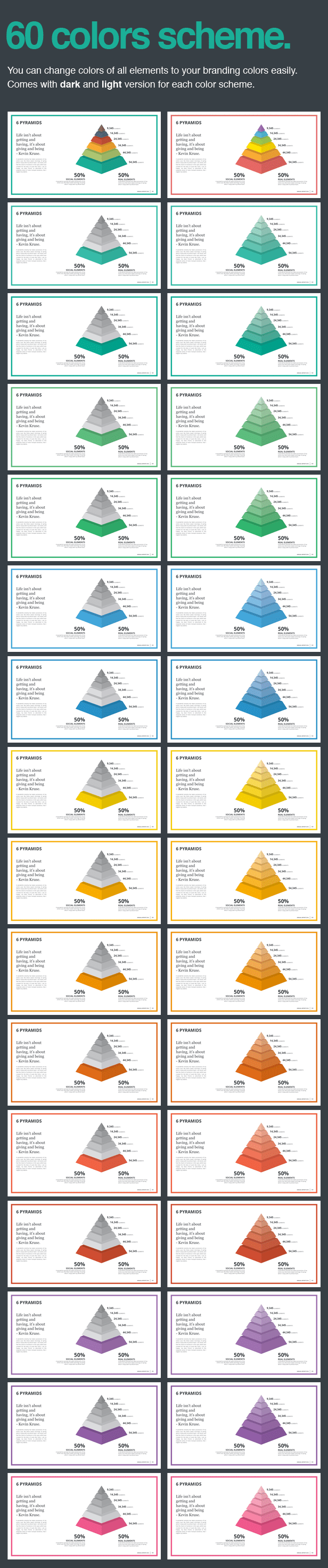 60 theme colours Monday PowerPoint Template (PowerPoint Templates)