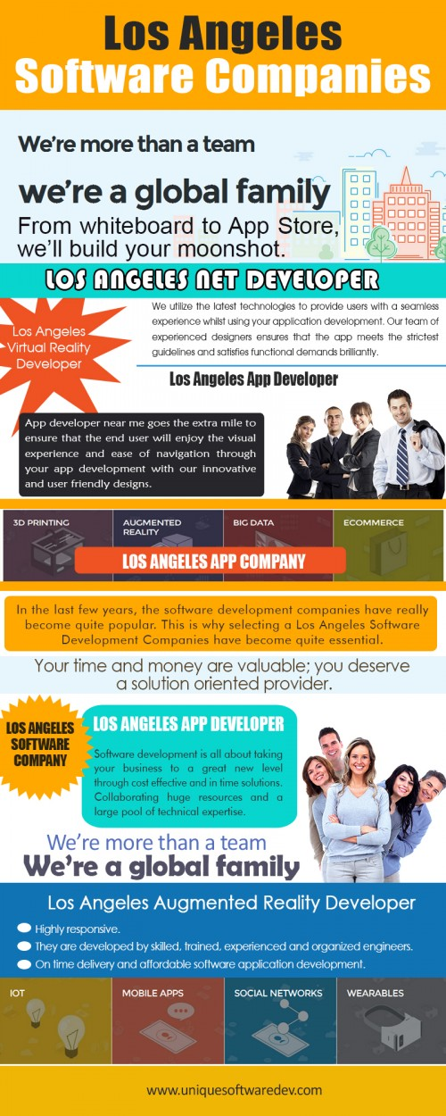 Our Website: http://www.uniquesoftwaredev.com/blog/los-angeles-software-development-companies/ Most Los Angeles Software Development Companies as well as app developers have actually also considered Appcelerator for developing mobile apps which can suit various platforms. People have been useful for developers who require an usual system for the app development procedure as well as meet perfect requirements for all platforms. Mobile application development company have team of competent and sensation Dallas App Developers that establishes mobile apps for many platforms that suit for business requirements. Follow Us: http://www.alternion.com/users/dallasIoTdeveloper/ My Profile: http://imgpaste.net/user/dallasmobileapp More Links: http://imgpaste.net/image/ukWZS http://imgpaste.net/image/ukakN http://imgpaste.net/image/ukkpF