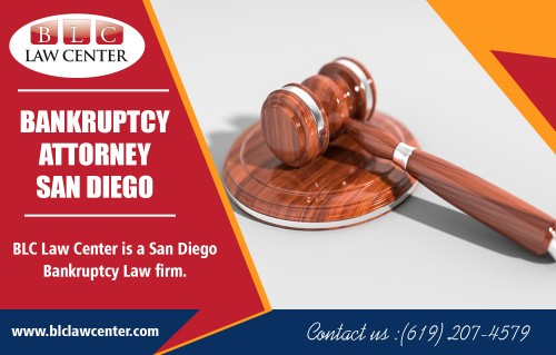 Bankruptcy attorney in San Diego that helps you to take control of your finances at https://www.blclawcenter.com/  Find us on Google Map: https://goo.gl/maps/JM7sXVTJB2x  It might appear counterproductive for your fiscal situation to cover expensive attorney's fees that will assist you in repaying your debts. However, a most exceptional bankruptcy attorney in San Diego can occasionally do a much better job of settling debts and quitting foreclosures or wage garnishments if you can't quickly repay your creditors.  My Social : https://www.facebook.com/BLCLawCenterSanDiego/ https://www.pinterest.com/blclawcenter/ https://www.reddit.com/user/blclawcenter/ https://www.yelp.com/biz/blc-law-center-san-diego  BLC Law Center  Address : 325 Seventh Ave #603, San Diego, CA 92101, USA Phone No : +1 619-207-4579, +1-800-551-7922 Fax :  +1-866-444-7026 Working Hours : Monday to Friday : 8:00 AM – 8:00 PM Saturday : 11:00 AM – 3:00 PM Easter Sunday : Hours Might Differ  Services :  Bankruptcy Attorney Bankruptcy Lawyer