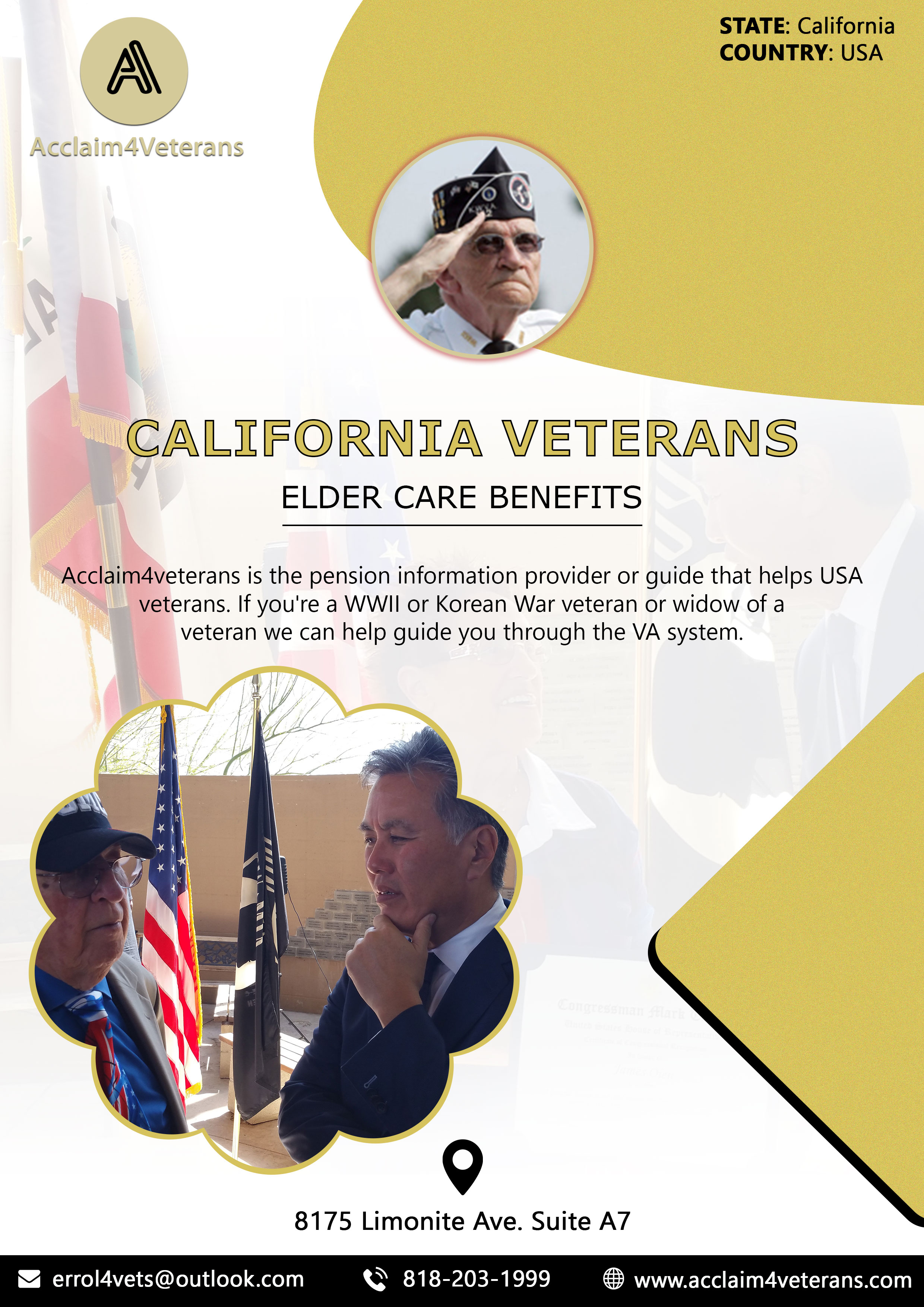 California Veterans Elder Care Benefits